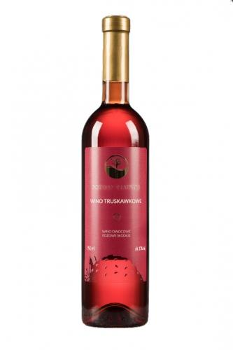 Wino truskawkowe / różowe / słodkie / Polska 750ml*VIN-KON*