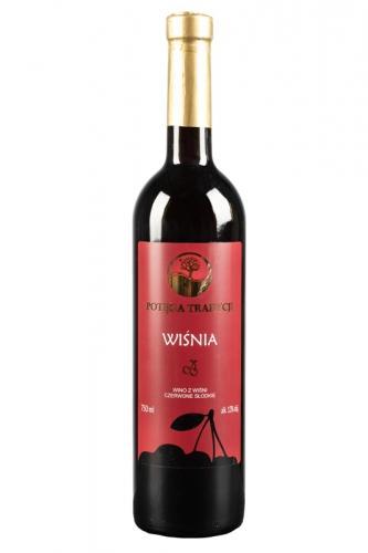 Wino wiśniowe / czerwone / słodkie / Polskie 750ml*VIN-KON*