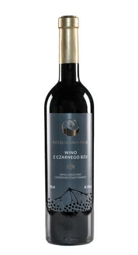 Wino z czarnego bzu / czerwone / półwytrawne / Polska 750ml*VIN-KON*