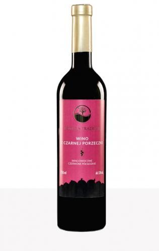 Wino z czarnej porzeczki / czerwone / półsłodkie / Polska 750ml*VIN-KON*