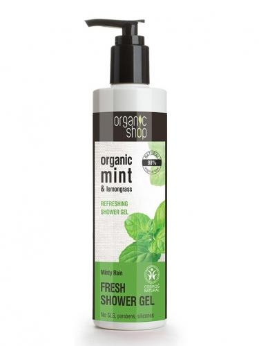 Żel pod prysznic **Mint & Lemongrass** 280ml*ORGANIC SHOP*ECO