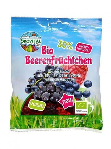 Żelki bezglutenowe owoce leśne bez żelatyny 80g*ÖKOVITAL*BIO